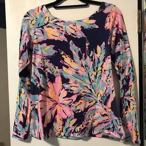 New Lilly Pulitzer SHAY Ruffle V-Neck Cotton DRESS So Sofishticated M or XL NWT